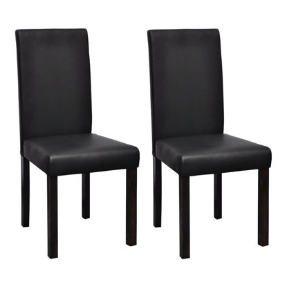 Picture of 2 x Dining chairs black leather