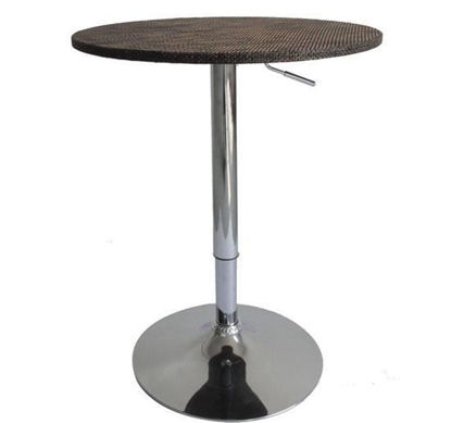 "Picture of 24"" Modern Adjustable Bar Table Stand Bistro Bar - Rattan Wicker"