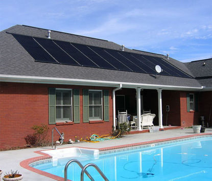 "Picture of 24""x10' Solar Energy Swimming Pool Sun Heater Panel Above Ground"