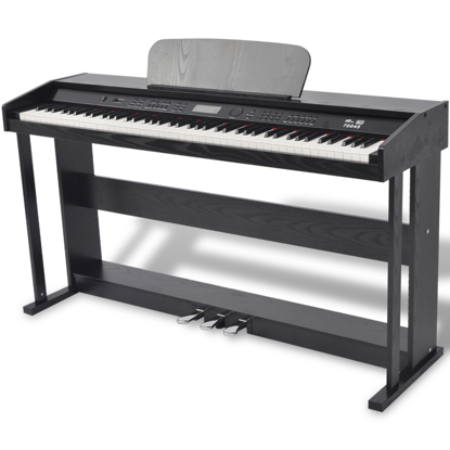Picture of 88-key Digital Piano with Pedals Black Melamine Board