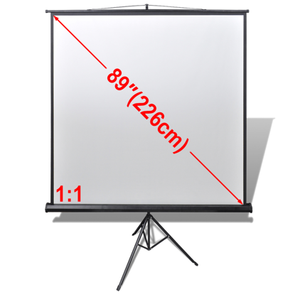 "Picture of 89"" 1:1 Manual Projection Screen with Height Adjustable Stand"