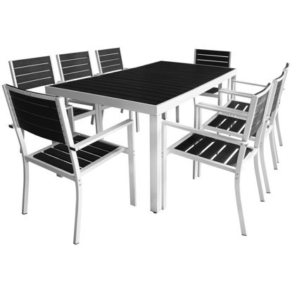 "Picture of 9pc Outdoor Dining Set 72"" - Aluminum WPC"