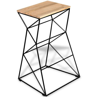 Picture of Bar Stool Solid Mango Wood