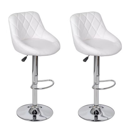Picture of Bar Stools 2 pcs White