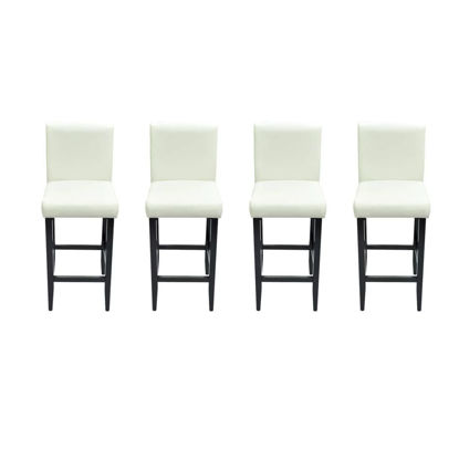 Picture of Bar Stools 4 pcs Artificial Leather White