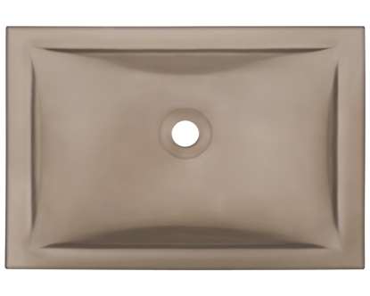 Picture of Bathroom Glass Undermount Sink Rectangular - Brown Frosted