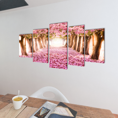"""Picture of Canvas Wall Print Set Cherry Blossom 79"""" x 39"""""""