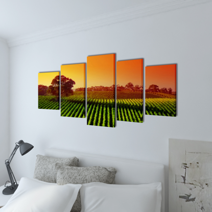 """Picture of Canvas Wall Print Set Fields 39"""" x 20"""""""
