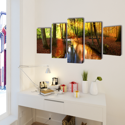 """Picture of Canvas Wall Print Set Forest 79"""" x 39"""""""