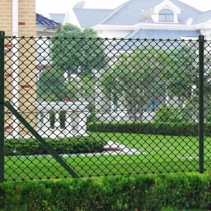 "Picture of Chain fence 4' 9"" x 49' 2"" Green with Posts & All Hardware"