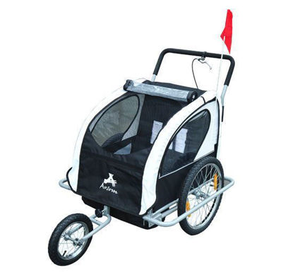 Picture of Child Stroller and Bike Trailer 2 in 1 - Black
