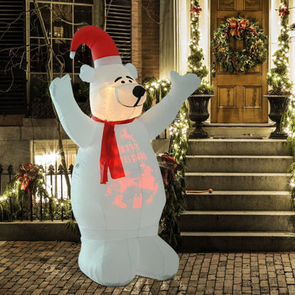 Picture of Christmas Decoration 6' Inflatable Bear Airblown