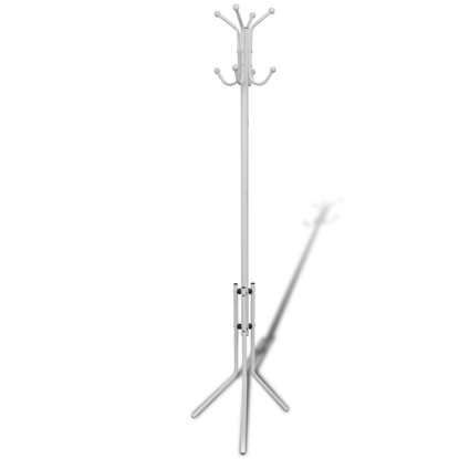 Picture of Coat Rack Hat Stand Organizer Hook Hanger Metal - White