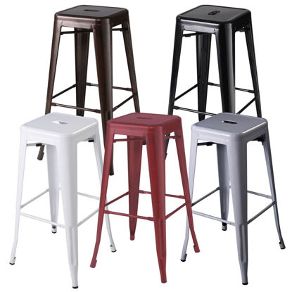 Picture of Dining Bar Stools Metal Steel - 2 pcs