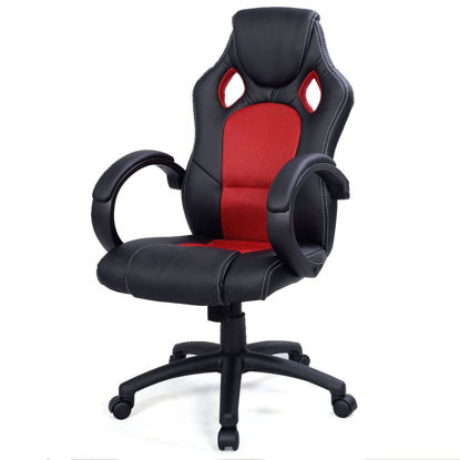 Picture of Desk Office Chair Race Car Style Bucket Seat - Red