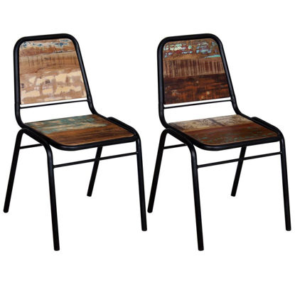 """Picture of Dining Chairs 2 pcs Solid Reclaimed Wood 17.3""""x23.2""""x35"""""""
