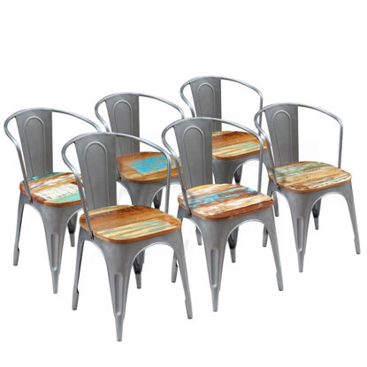 """Picture of Dining Chairs 6 pcs Solid Reclaimed Wood 20""""x20.5""""x31.5"""""""