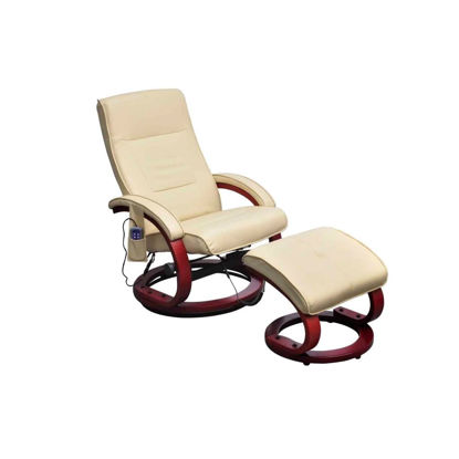Picture of Electric TV Recliner Massage Chair Cream-white