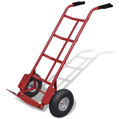 Picture of Foldable Metal Moving Dolly Cart Truck Trolley Hand Cart - Red and Black