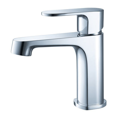 Picture of Fresca Gravina Single Hole Mount Bathroom Vanity Faucet - Chrome