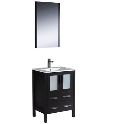 "Picture of Fresca Torino 24"" Espresso Modern Bathroom Vanity with Integrated Sink"