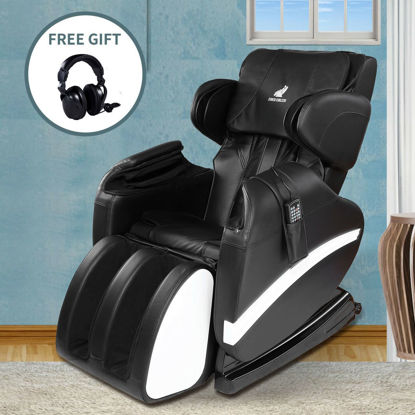 Picture of Full body Shiatsu Recliner Massage Chair with Heat - Black