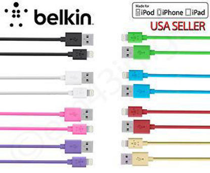 Picture of iPhone iPad  5/5S/5C OEM Belkin 8-Pin Lightning Cable Charger - For IOS 7
