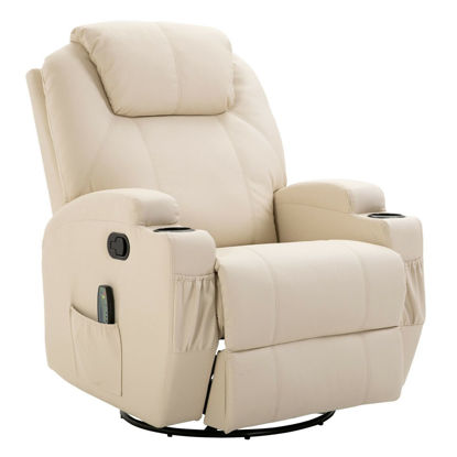 Picture of Living Room Recliner Massage Chair - Cream