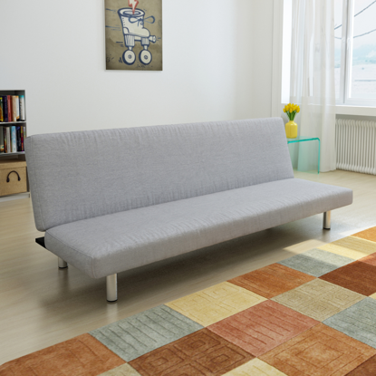 Picture of Living Room Futon Convertible Sofa Bed - Light Gray