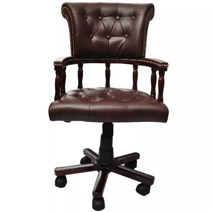 Picture of Office Chair Chesterfield Captains Swivel - Brown