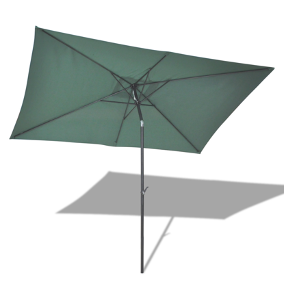 "Picture of Outdoor 10' x 6' 6"" Rectangular Hanging Umbrella Parasol Sunshade - Green"