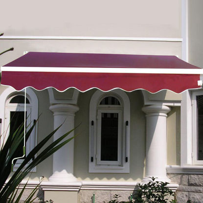 Picture of Outdoor Awning Sunshade Manual Patio Retractable 6.4' × 5'