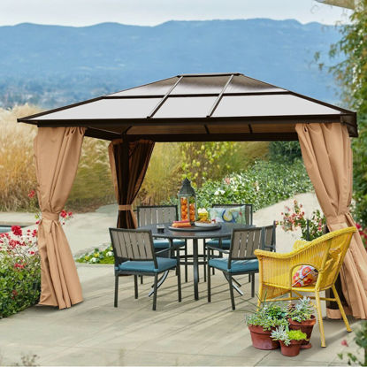 Picture of Outdoor 10'x12' Gazebo Tent Hardtop Aluminum Poles with Panels