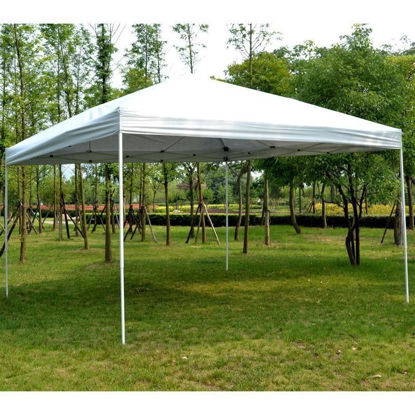 Picture of Outdoor 13'x 13' Easy Pop Up Tent - Light Gray