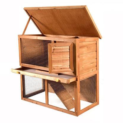 "Picture of Outdoor 35"" Chicken Coop Hutch"