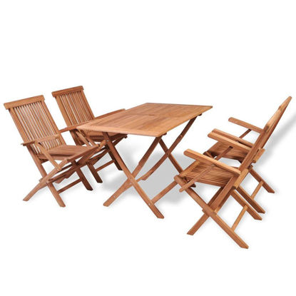 Picture of Outdoor Dining Set - Teak 5 Pcs