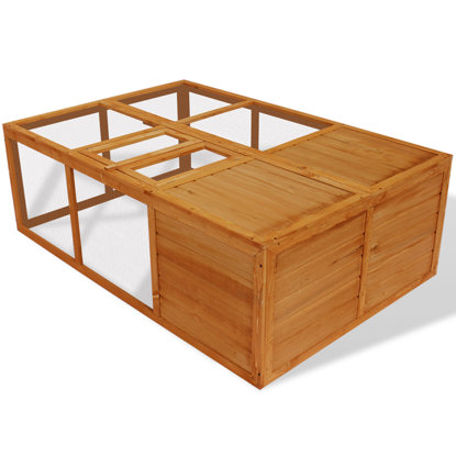 """Picture of Outdoor Foldable 59"""" Wooden Chicken Coop"""
