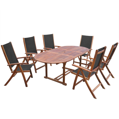 Picture of Outdoor Furniture Folding Dining Set Acacia Wood