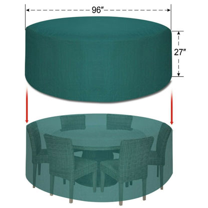 """Picture of Outdoor Furniture Set Cover 96"""" Waterproof"""