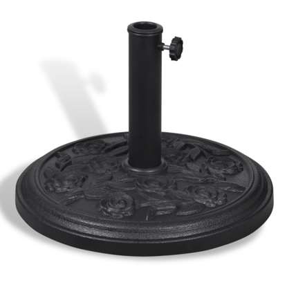 Picture of Outdoor Patio Round Umbrella Base Parasol Base Holder Stand - Steel/Resin