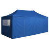 Picture of Outdoor Pop-Up Tent Gazebo Marquee with 4 Side Walls 9.8'x19.7' - Blue
