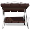 Picture of Outdoor Swing Chair / Bed Canopy Patterned Arch - Coffee
