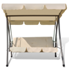 Picture of Outdoor Swing Chair / Bed with Canopy - Sand White