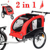 Picture of Pet Bike Trailer Bicycle Stroller Jogging with Suspension