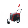 Picture of Pet Dog Bike Bicycle Trailer with Jogger - Red/Black