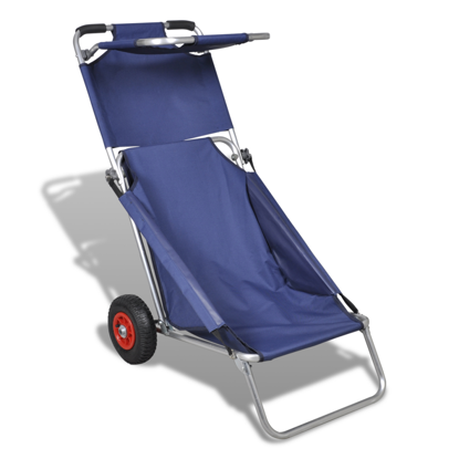 Picture of Portable Beach Trolley, Chair, Table, Three in One, Blue