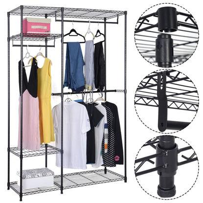 "Picture of Portable Clothes Closet Organizer - 48"""