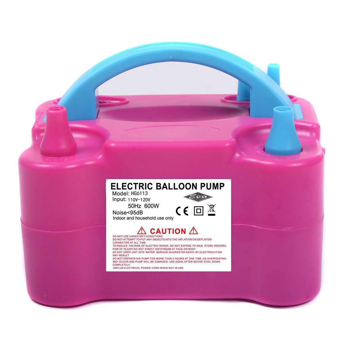 Picture of Portable High Power Two Nozzle Color Air Blower Electric Balloon Pump 110V