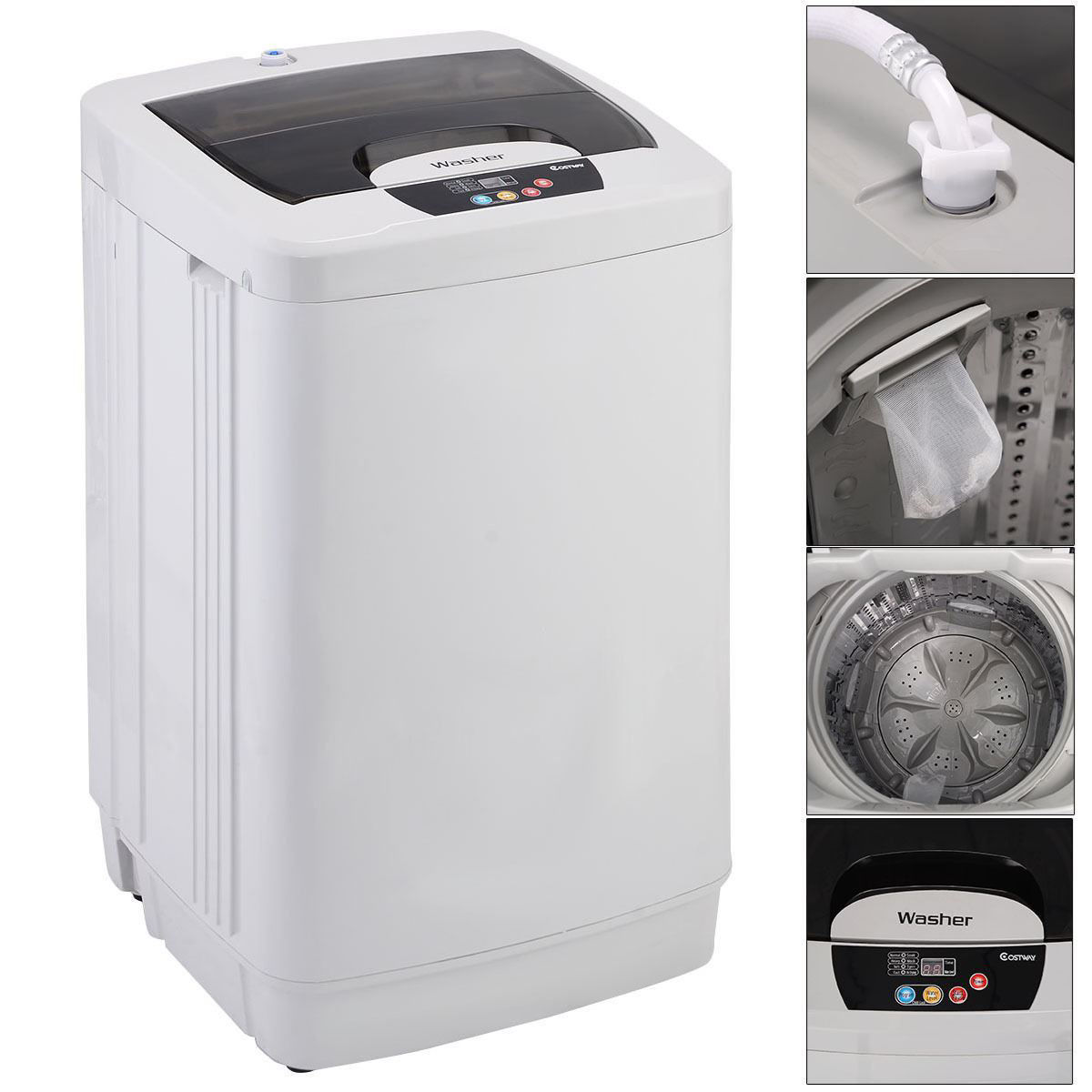 Picture of Portable Small Washing Machine Washer Fully Automatic 1.87 Cu.ft / 12 lbs Spin