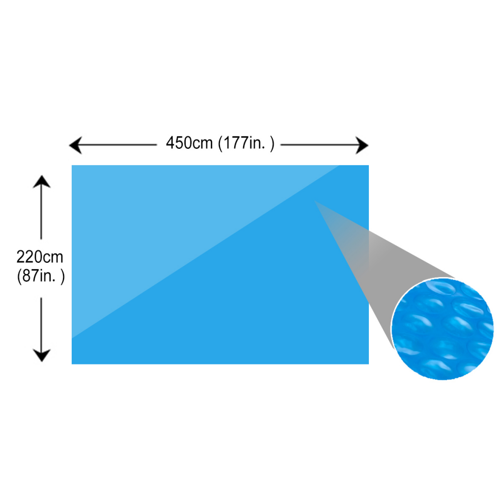 Picture of Rectangular Pool Cover 177 x 87 inch PE Blue
